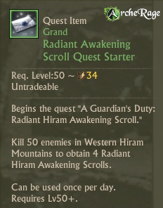 Radiant Awakening Scroll Quest Starter.png
